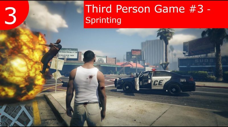 Tutorial : BP Third Person Game | #3 Character Sprinting | Unreal Engine