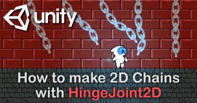 Unity Tutorial – How to make realistic metal chains using HingeJoint2D