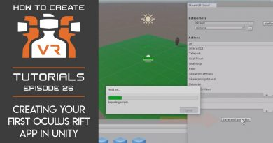 Tutorial | E26 | Creating Your First Oculus Rift App in Unity