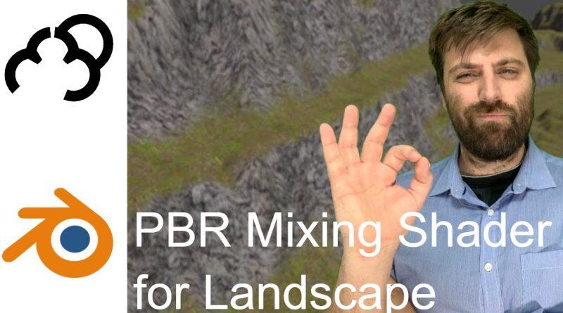 PBR Landscape Material in Blender 2.8 Tutorial