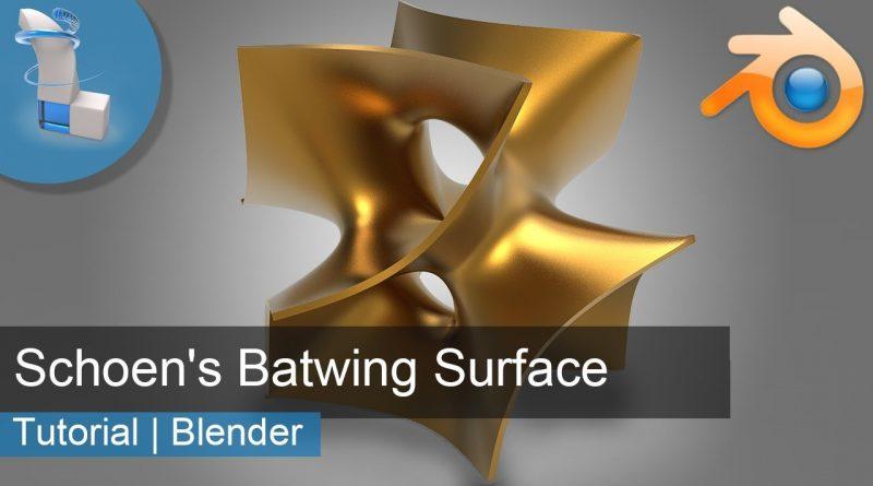 Blender 3d Tutorial | Schoen's Batwing Surface | Blender 2.8