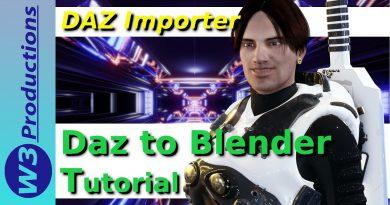 Daz Importer Blender 2.8 (Version 1.4) - Daz to Blender Tutorial