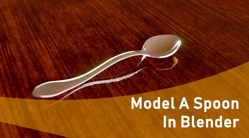 How To Model A Spoon In Blender (Beginner Tutorial)
