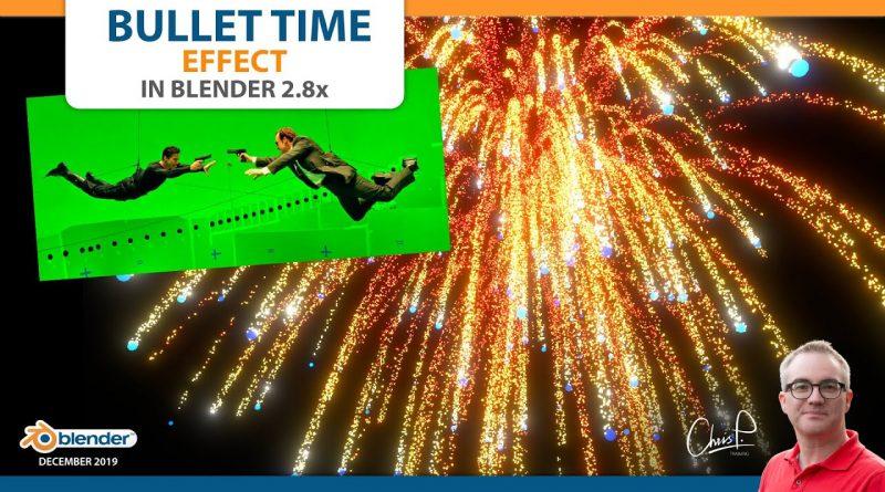 Bullet Time Effect - Blender 3D Tutorial + Fireworks!