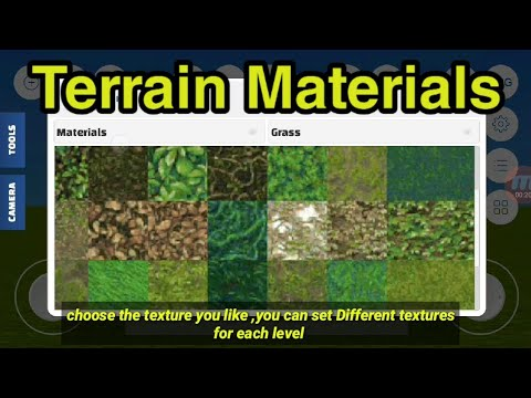 Terrain Materials in Weplay Game Engine Android tutorial | 2019 | WePlayGame