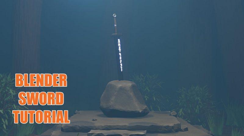 Blender Sword Tutorial | Sword In Stone Part 1