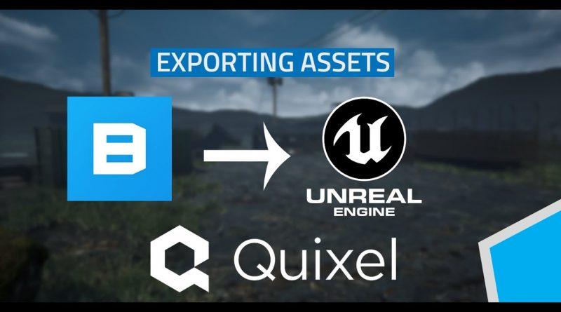 How to export Megascans assets - Quixel bridge - Unreal engine tutorial