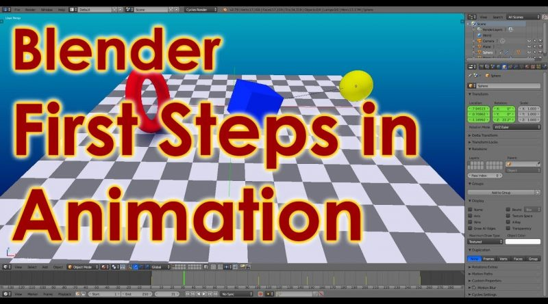 Blender Tutorial - First Steps in Animation - Movement, Rotation and Scale