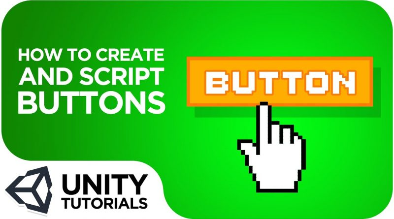 Buttons! How to create and script a button. Unity 2019 beginner tutorial