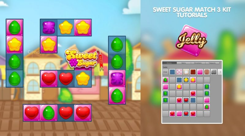 Sweet Sugar Match 3 Tool Kit for Unity. Tutorial: how to create new levels: JELLY