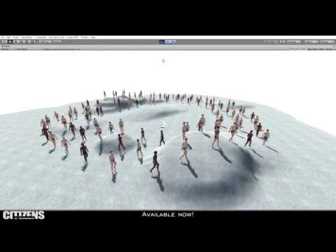Unity 2018 - Citizens (Tutorial - Creating Walking People)