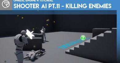 Unreal Engine 4 Tutorial - Shooter AI Pt.11 - Killing Enemies