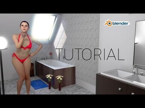 Blender- Realistic scene & texturing free download model , Blender eevee tutorial
