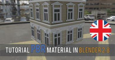 PBR material in Blender 2.8 Tutorial English | Blender Lowpoly