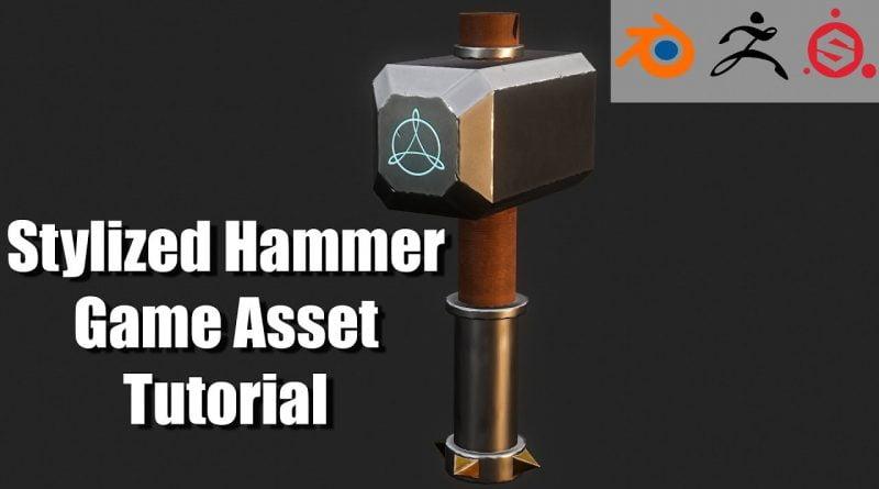 Stylized Hammer 3D Game Asset Tutorial (Blender-Zbrush-SubstancePainter)