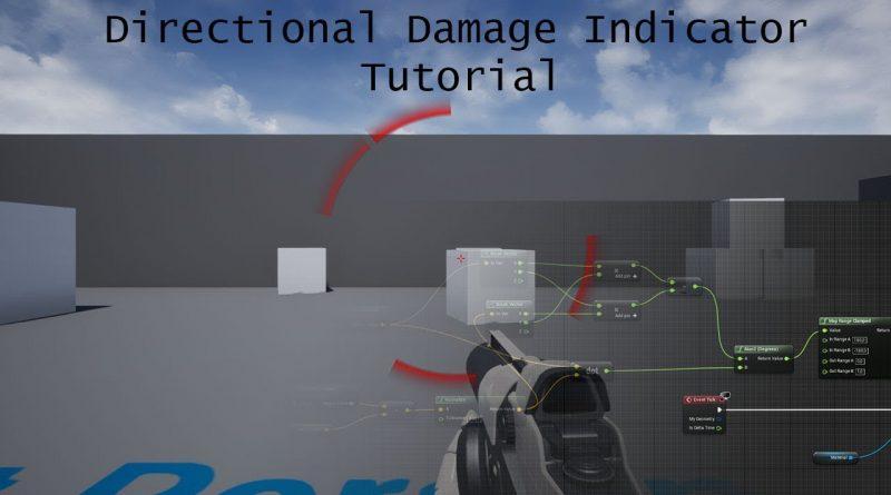 Unreal Engine 4   CoD like damage indicator tutorial