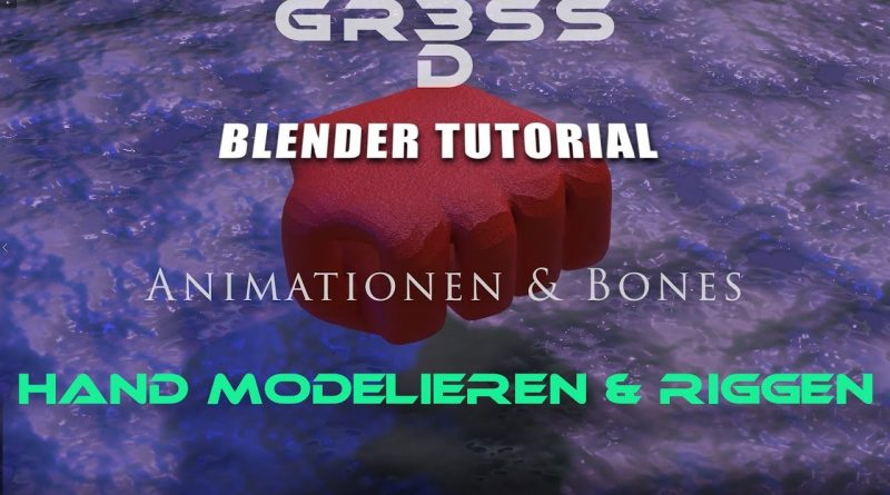 Blender 2.8 Tutorial Hand modeling and Hand rigging  (ENGL.SUB)