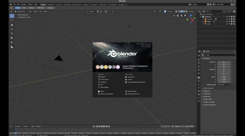 Blender 2.8 Beginner Tutorial PART 1 Installation and Interface