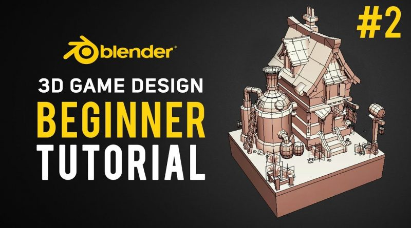 3D Game Design | Blender Tutorial 2.8 Beginner #2