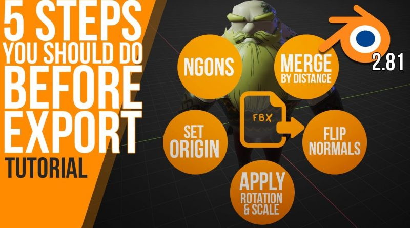 5 steps you should do before export | polishing geometry | Blender 2.81 | Tutorial