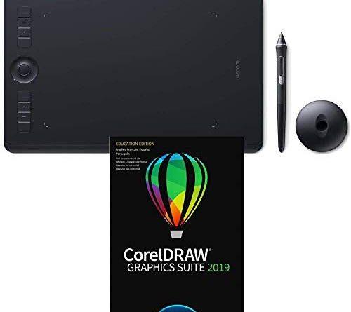 Wacom Intuos Pro Medium Pen Tablet PTH660 with CorelDraw Graphics Suite 2019 for macOS Academic