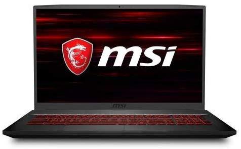 "MSI GF75 17.3"" Gaming Laptop Intel Core i7-9750H 8GB RAM 256GB SSD 120Hz GTX 1050 Ti Aluminum Black"