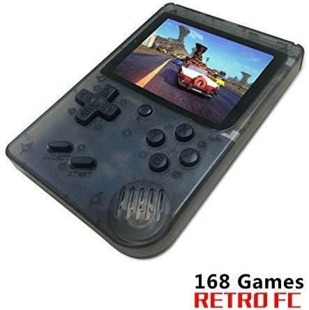 BAORUITENG Handheld Game Console, Retro FC Game Console,Video Game Console with 3 Inch 168 Classic Games (t-Black)