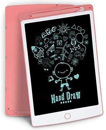 LCD Writing Tablet, 10 Inch Digital Electronic Graphics Tablet Ewriter with Memory Lock Mini Board Handwriting Pad Suitable for Kids and Adults for Home, School and Office Pink