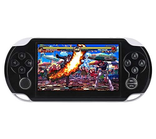 DREAMHAX Handheld Game Console with 4.3 Inch Screen Free 10000 Games, Portable Video Games with 8GB + 32GB Storage, Classic Arcade Retro Game Player Gameboy, Birthday Gifts Presents for Kids Children