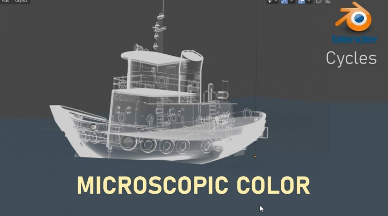 Blender Tutorial: MICROSCOPIC COLOR SHADER BLENDER CYCLES