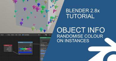 Blender Tutorial: Random colour on particle instances using the object info node
