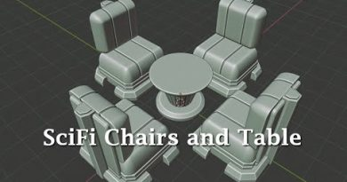 Blender 2.8: Modeling a SciFi Chair and Table