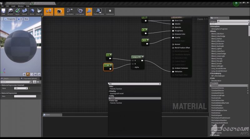 Unreal Engine 4 Tutorial - Refraction Material + Normal Map + Rotation