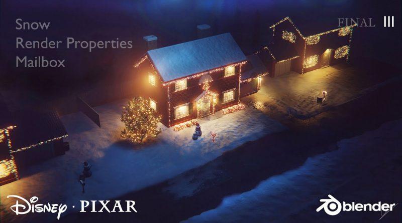 Create a Disney Pixar Style House in Blender - Tutorial Series 3
