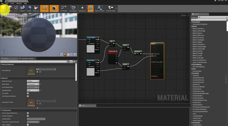 Unreal 4 Engine  - T11a   Flamethrower   Material and Flame Particle System
