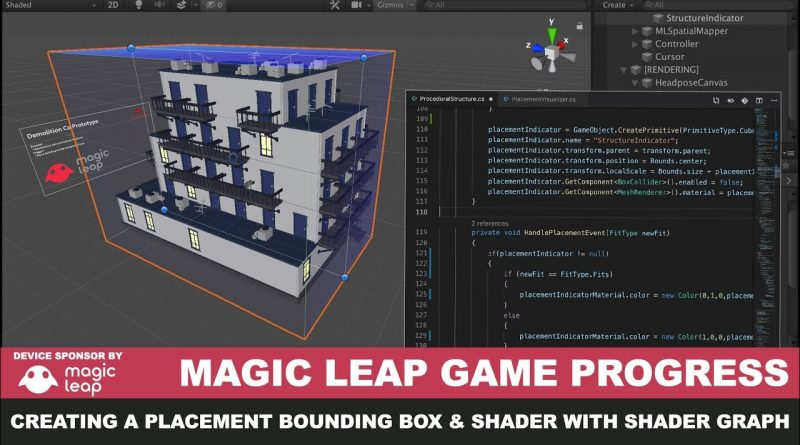 Magic Leap Unity3d Game with Placement Bounding Box Creation, Shader Graph, and Shader Demo