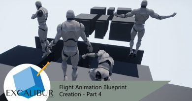 Flight Animation Blueprint Creation - Part 4 - Editing and creating animations [UE4 Tutorial]