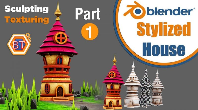 Blender Tutorial - Stylized House | Sculpting With Textures - Part 1