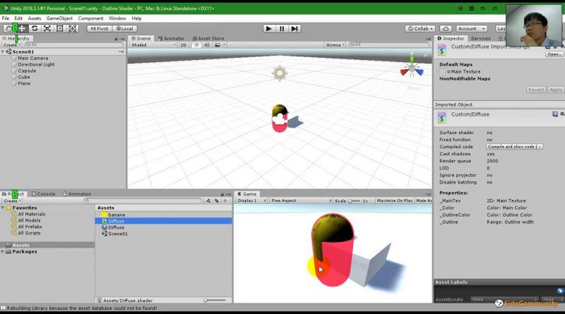 Unity Tips - Custom outline shader with ShaderLab