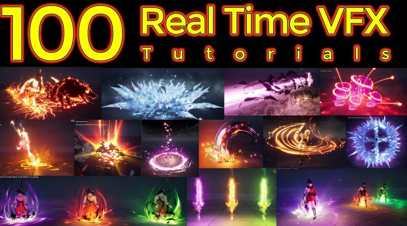 100 Real Time VFX Tutorials | Unreal Engine Tutorials | Niagara Tutorials | Ue4 Tutorials |