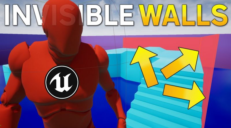 How to add Invisible Walls in Unreal Engine - UE4 Tutorial