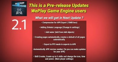 WePlay Game engine 2.1 Pre-release Updates   2019   WePlayGame