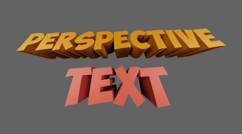 Perspective text Blender Tutorial