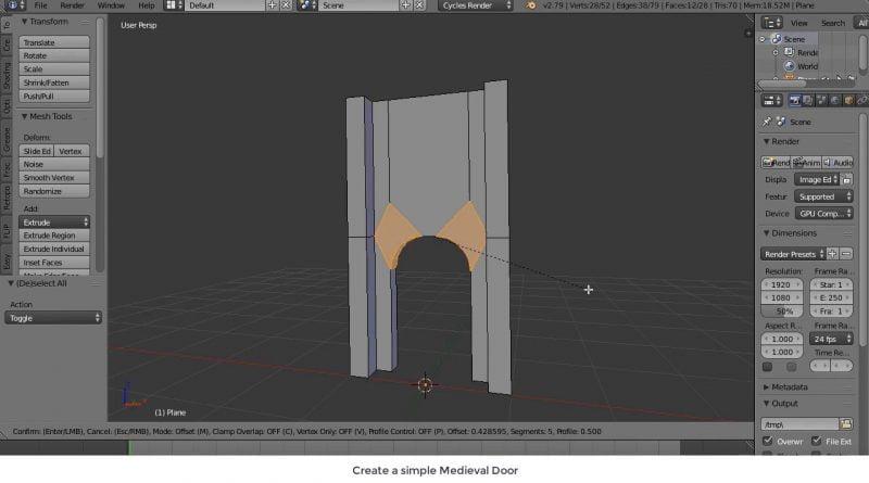 Create a simple Medieval Door with Blender - Tutorial