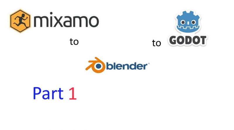 Godot 3.2 art pipeline (Part 1) How to pack animations in Blender 2.8 from Mixamo & export to Godot