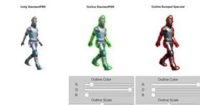 Unity3D SwordMaster Outline Shaders