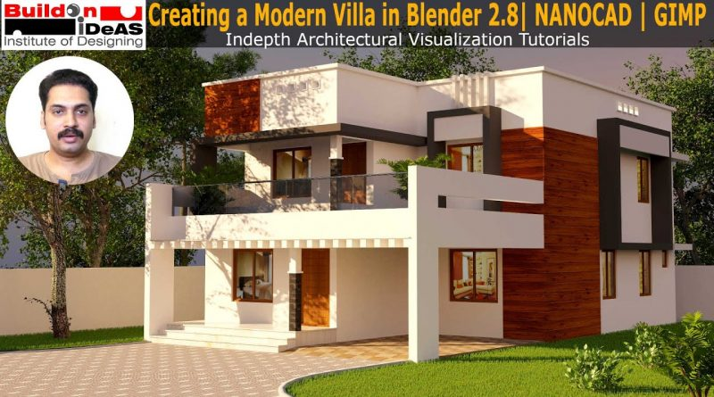 Making a Modern House in Blender | Blender 2.8 Architecture Tutorial | Cycles Render