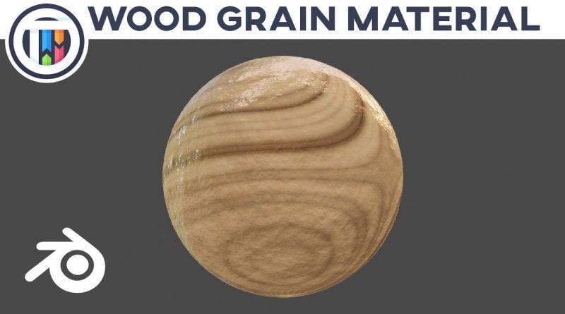 Blender 2.8 Eevee Tutorial - REALISTIC WOOD GRAIN - Random Materials w/ Kai [008] | TutsByKai