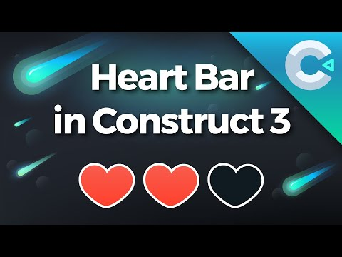Construct 3 Tutorial : How To Make A Heart Bar With ProUI
