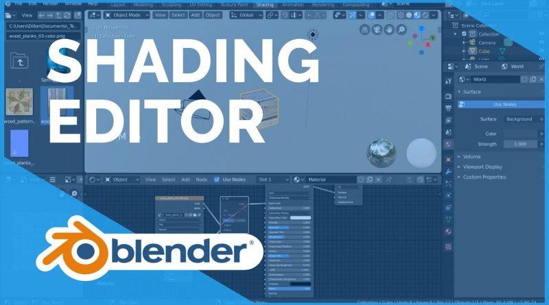 Shading Editor - Blender 2.80 Fundamentals